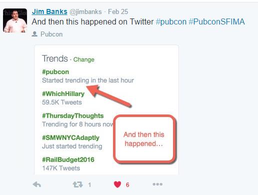 Pubcon-SFIMA-Trending-Hashtag