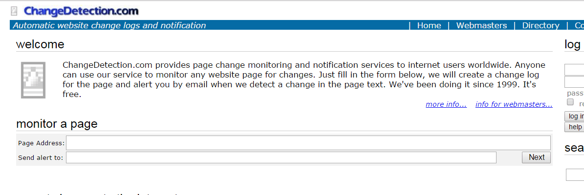 Change Detection Site