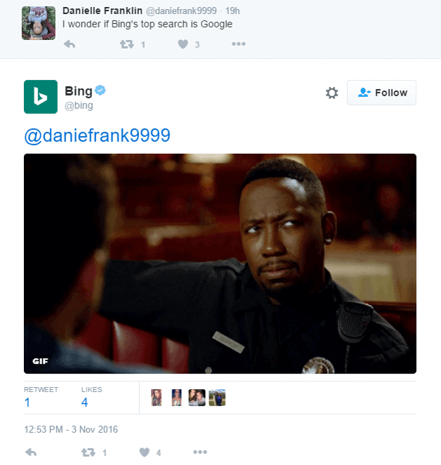Be Friendly - Bing Example