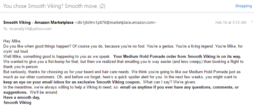 Smooth Viking Email 1 - Entertain