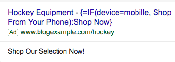 Hockey Equipment Ad Counter Example