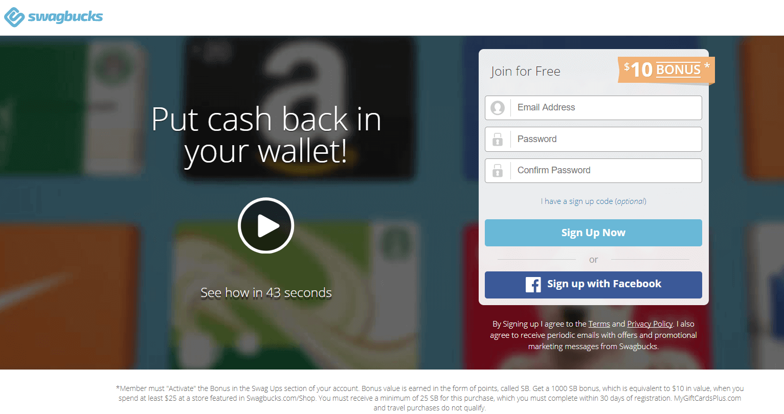 Swagbucks Paid Survey Site Example