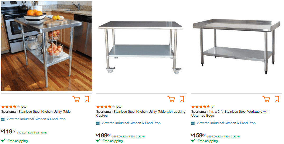 Home Depot Kitchen Was Now Pricing