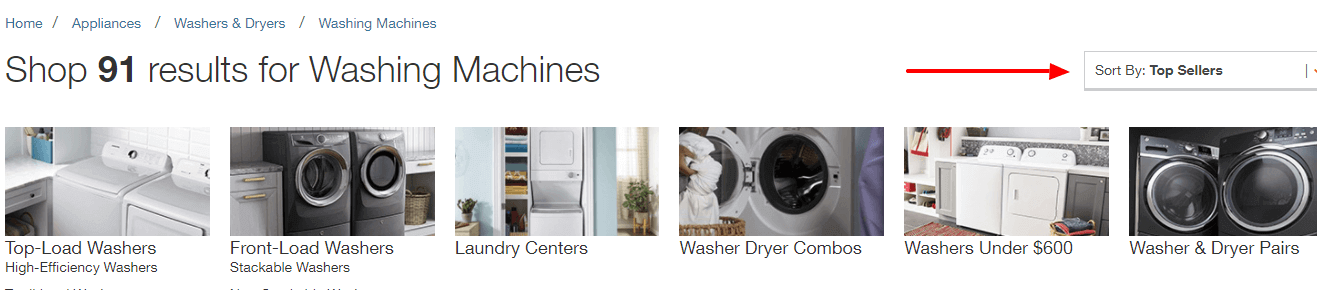 Home Depot Washing Machines - Sort By Best Seller