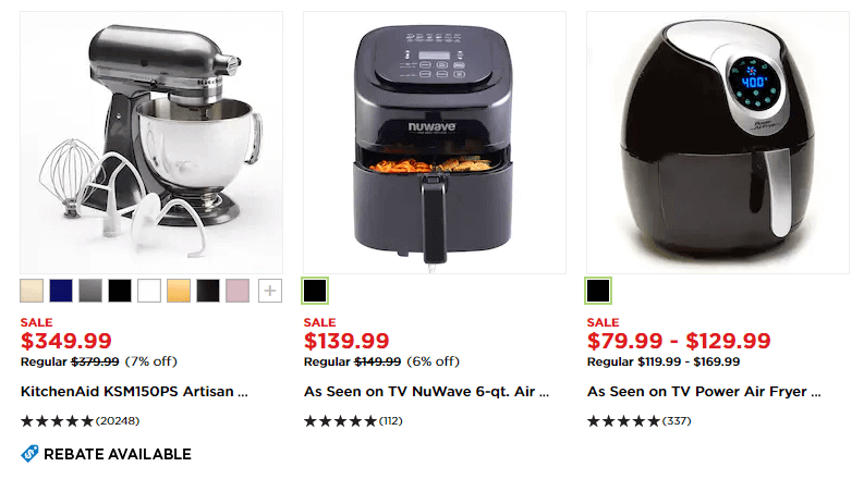 Kohls Kitchen Appliances Was Now Pricing