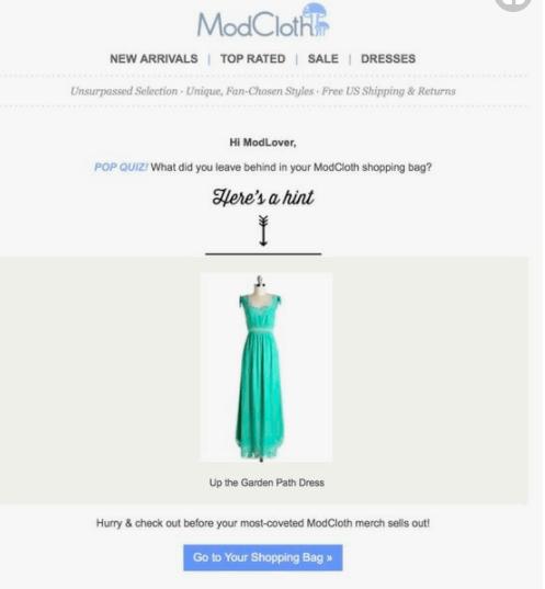 ModCloth Nurturing Email Campaign