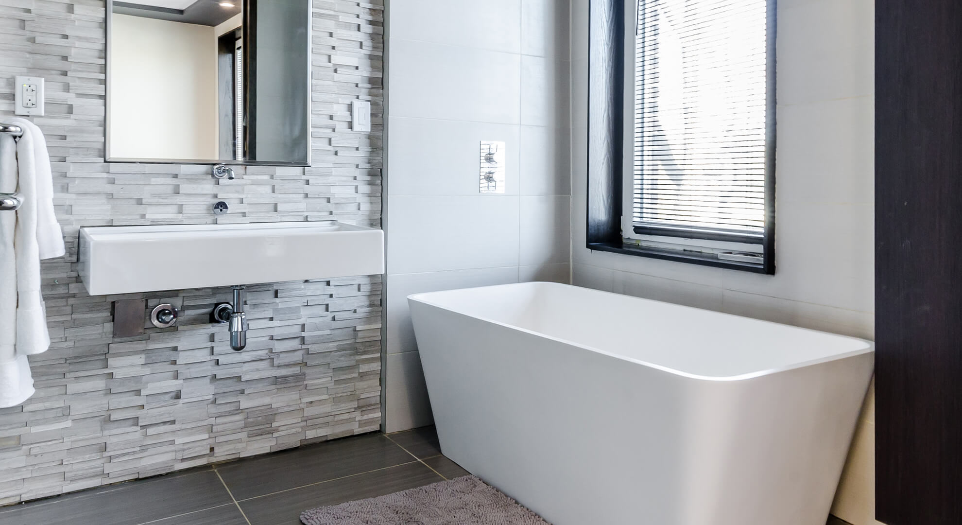 bathtub and bathroom tiles