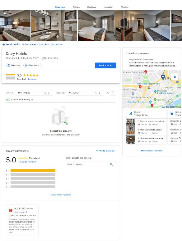 Drury Hotel Listing