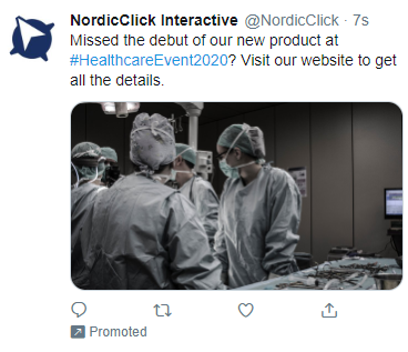 Post-Event Twitter Ad Example