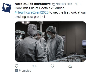 Pre-Event Twitter Ad Example